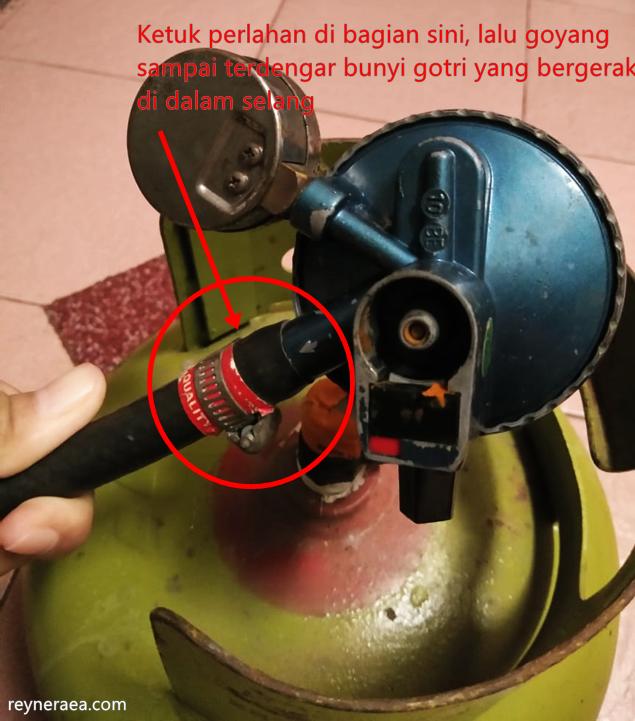 mengatasi kompor gas tidak mau nyala setelah ganti tabung gas elpiji