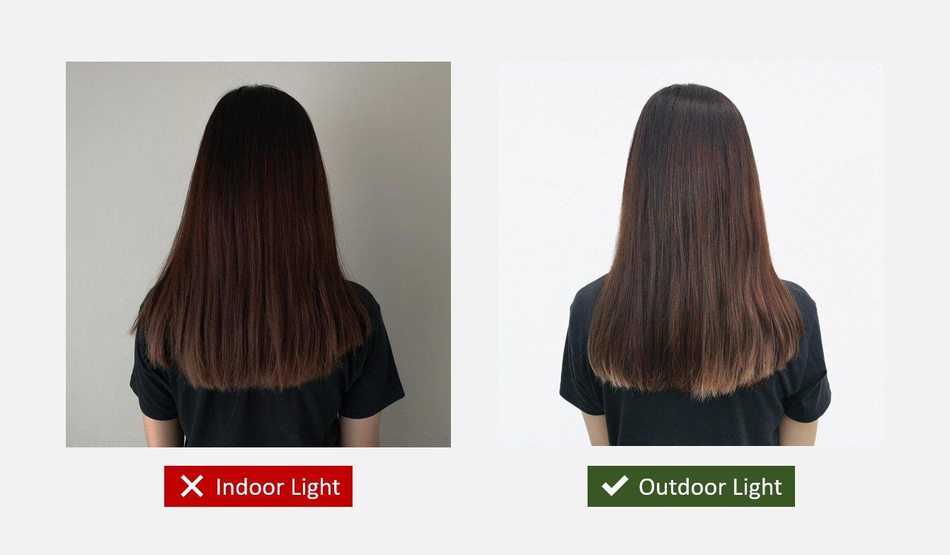 Salon Instagram photo: outdoor light > indoor light