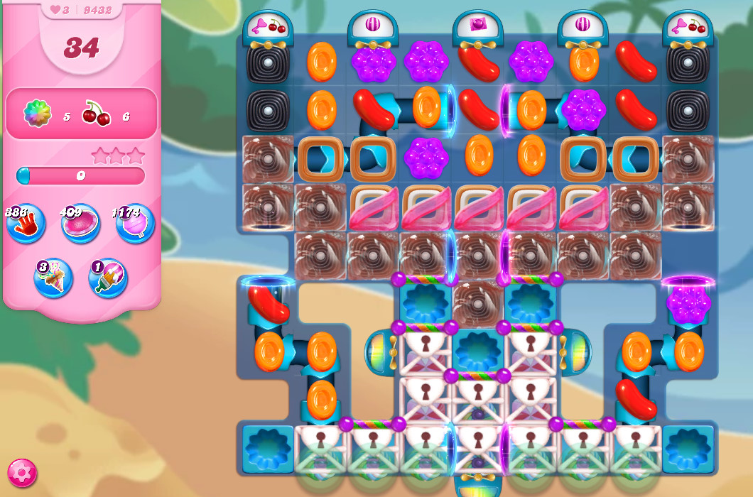 Candy Crush Saga level 9432