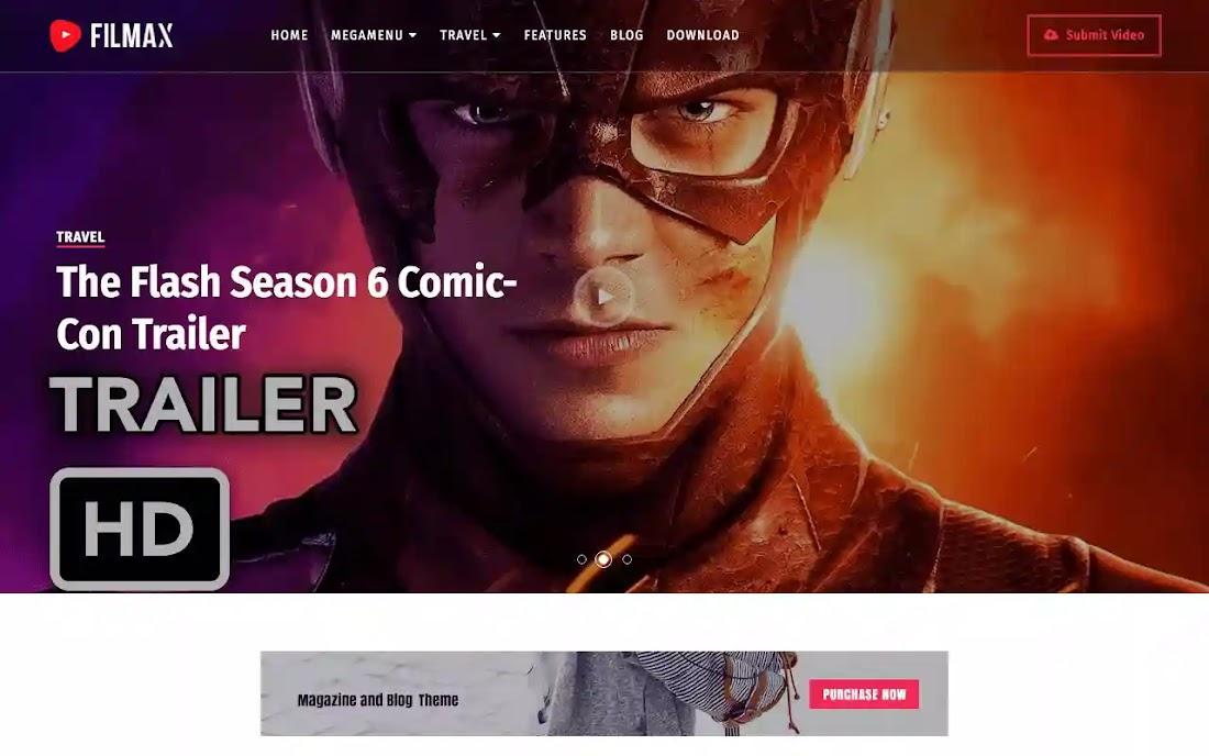 Filmax Movie Blogger Template