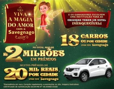 Cadastrar Promoção Natal 2020 Savegnago e Fim de Ano 2 Milhões Prêmios - Viva Magia do Amor