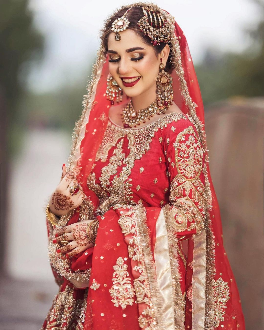 Bride DP in Red Dress