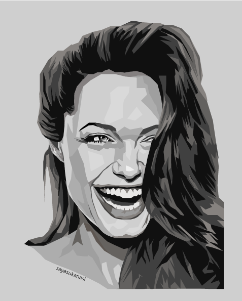 Angelina Jolie WPAP Art Potrait Digital Art
