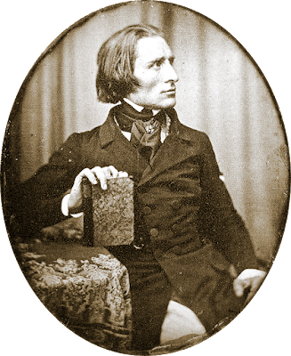 Earliest known photograph of Liszt (1843)