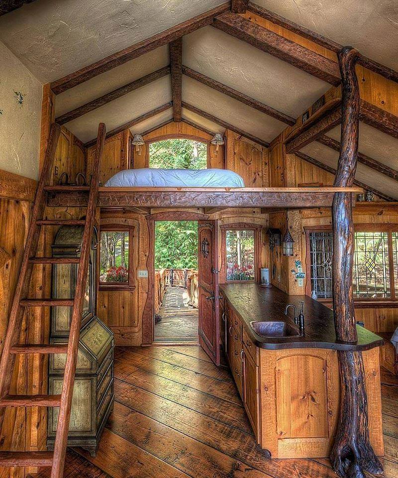 15 Traditional & Rustic Warm Interior Wood Decorating ... on Traditional Rustic Decor  id=26972