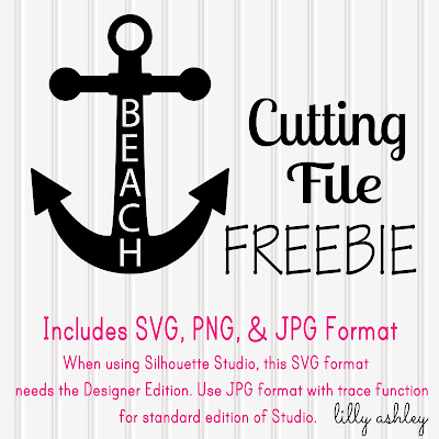 digital freebie anchor circle monogram