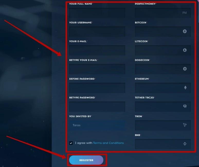 Регистрация в Bitgenix 2
