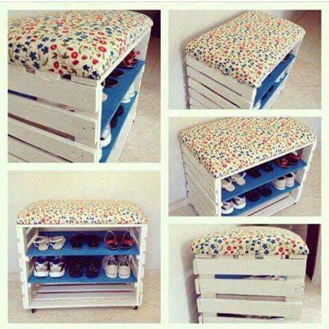 Ideas de muebles hechos con con cajas y cajones de madera recicladas ...