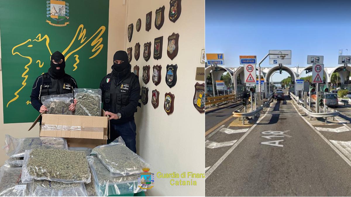 sequestro Guardia di Finanza 14 kg marijuana