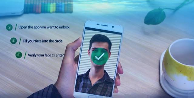 تطبيق إقفال شاشة الهاتف والتطبيقات عن طريق الوجه لجميع هواتف الأندرويد