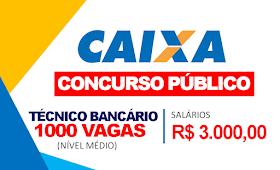 ÚLTIMOS DIAS de inscrição: Concurso com 1.000 vagas de nível médio com Salários R$ 3.000,00