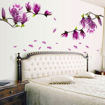 Magnolia Flowers Wall Stickers