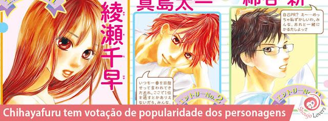 Chihayafuru votação de popularidade dos personagens