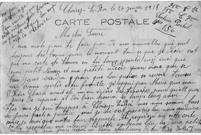 CPA, guerre 1914/1918, Choisy le Roi, Auvergne