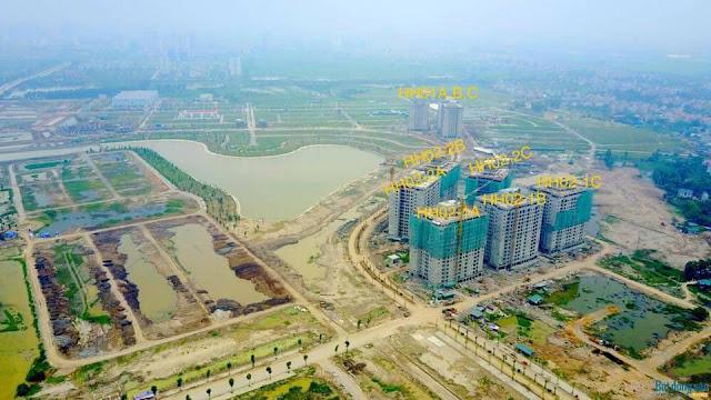 Toàn cảnh khu đô thị Thanh Hà cienco 5 nhìn từ Fly Cam