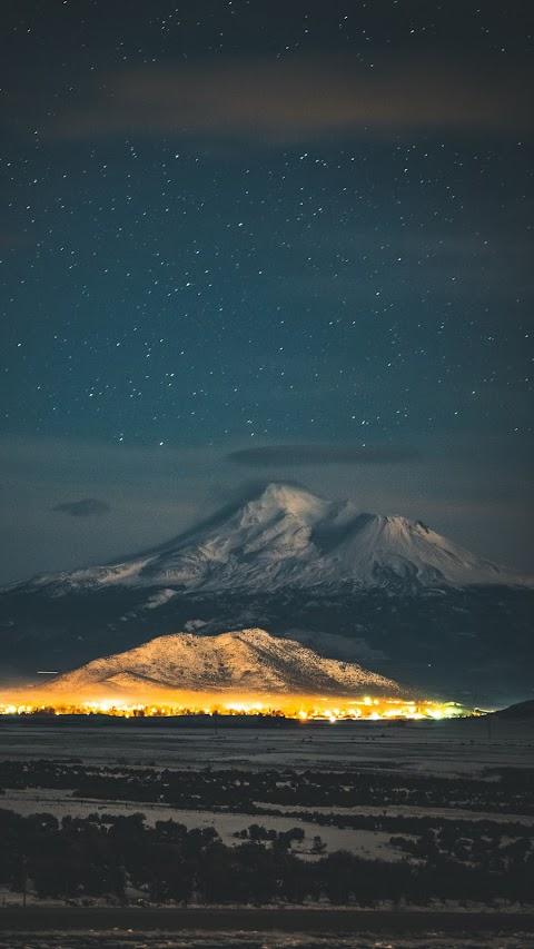 Starry mountain night
