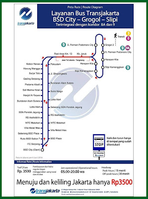 Rute Bus TransJakarta Serpong – Grogol / Grogol Serpong