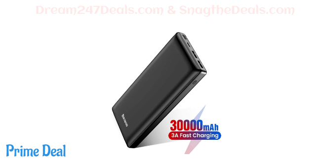 40% OFF 30000mAh power bank with triple outputs& triple inputs