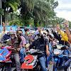 Disambut Ratusan Massa Militan dan Diiringi POKM ke Desa Muara Jaya dan Kumun Hilir