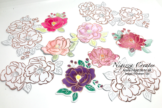 Nigezza Creates with Stampin' Up! Flowering Foils: Different Colouring Techniques