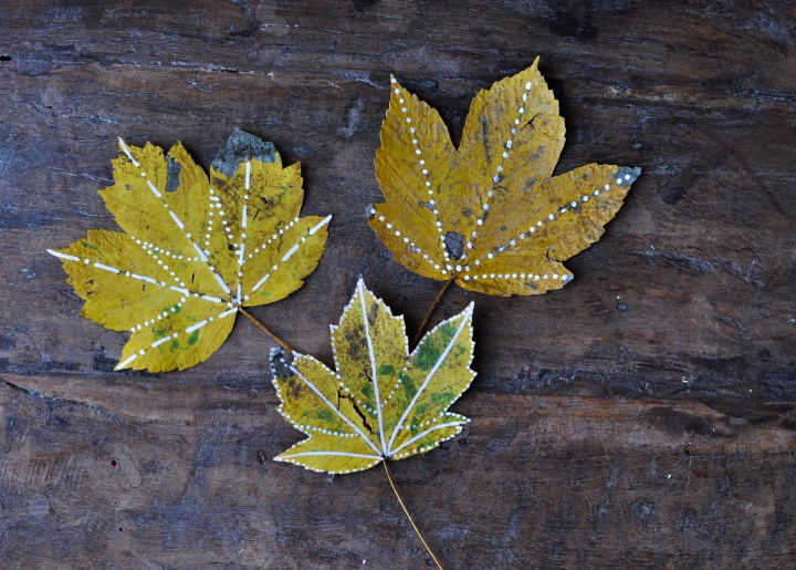 fast and easy #diy, #painted #leafs, perfect for #fall