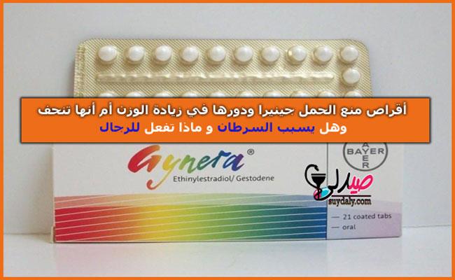 جينيرا أقراص GYNERA لمنع الحمل وتنظيم الحمل هل يزيد الوزن أو تنحف و يسبب السرطان وجينيرا للرجال والدورة الشهرية ملف شامل عن استخداماته وفوائده وأضراره وجرعته وسعره وبدائله في 2020