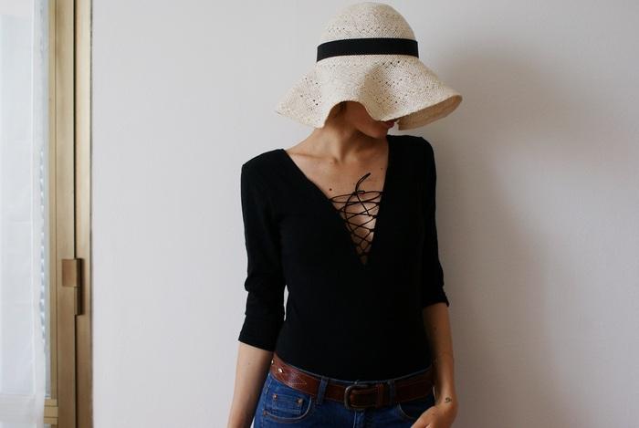 cappello paglia fascia faidate