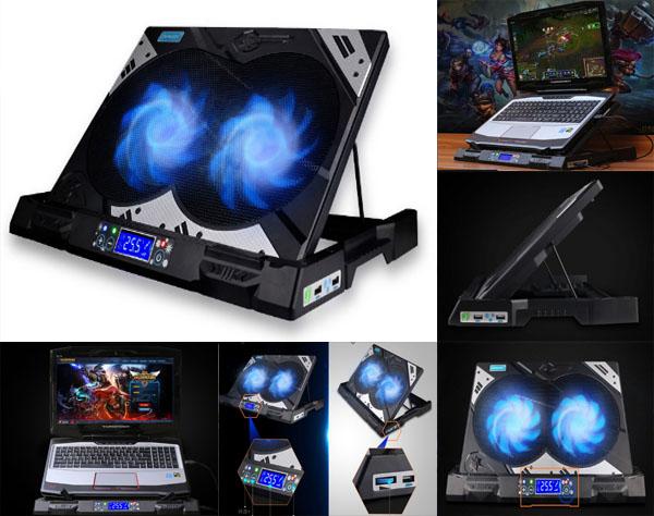 suporte com cooler para notebook gamer