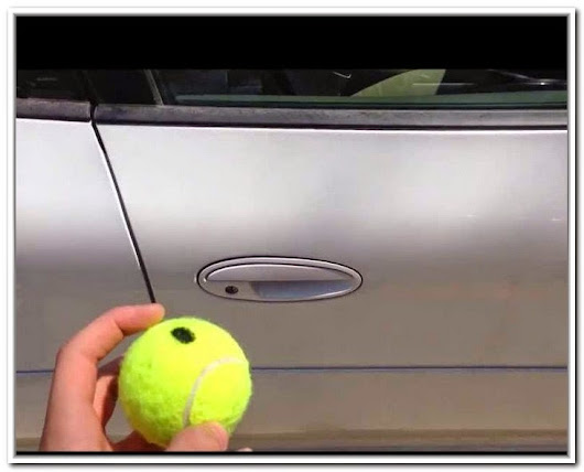 How to open a car door with a tennis ball?