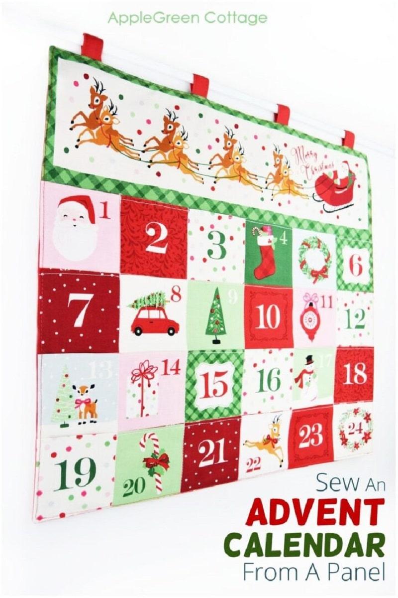hot to sew a diy fabric pocket advent calendar