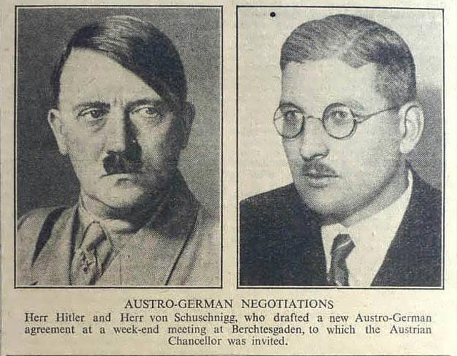Hitler and Austrian leader Schushnigg worldwartwo.filminspector.com