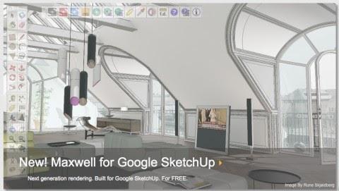 Sketchup Plugin: Free download Maxwell render for Sketchup