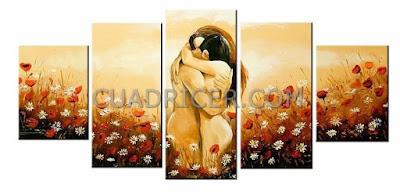 http://www.cuadricer.com/cuadros-pintados-a-mano-por-temas/cuadros-desnudos/cuadros-desnudos-pareja-abrazandose-amorosamente-prado-flores-silvestres-2179.html