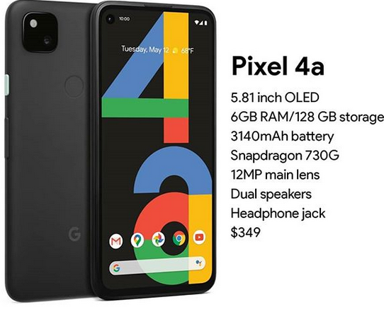Google Pixel 4a Launching in India in October by means of Flipkart the best phone