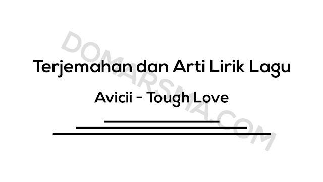 Terjemahan dan Arti Lirik Lagu Avicii - Tough Love