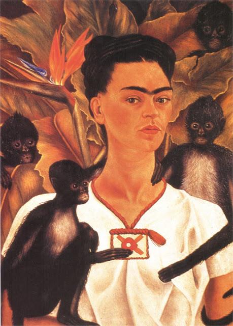 Фрида Кало - Автопортрет с обезьянками. 1945