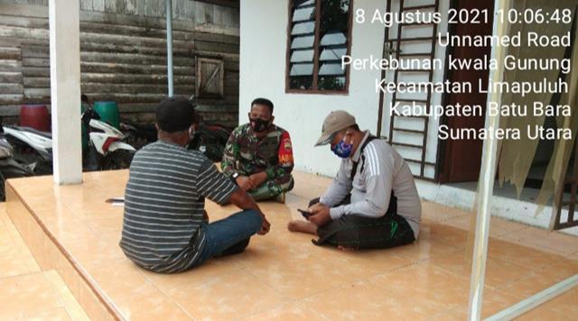 Dengan Cara Komsos Personel Jajaran Kodim 0208/Asahan Mengetahui Kondisi Wilayah Binaan
