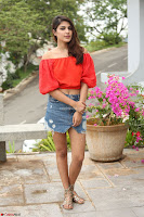 Rhea Chakraborty in Red Crop Top and Denim Shorts Spicy Pics ~  Exclusive 092.JPG