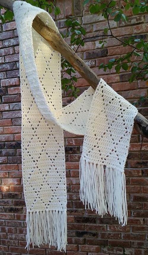 Crochet Diamond Scarf - Free Pattern