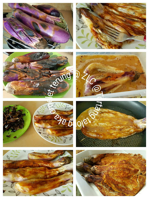 zulfaza loves cooking omelet terung aka tortang talong Resepi Goreng Ayam Guna Serbuk Roti Enak dan Mudah