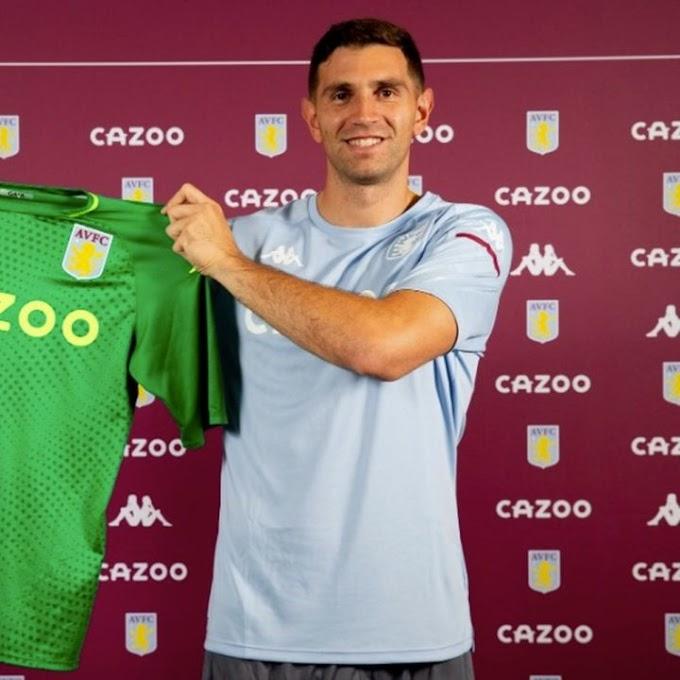Emiliano Martinez Completes £20m Transfer To Aston Villa From Arsenal