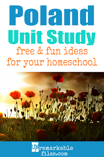 This Poland unit study is packed with activities, crafts, book lists, and recipes for kids of all ages! Make learning about Poland in your homeschool even more fun with these free ideas and resources. #poland #polish #geography #aroundtheworld #homeschool