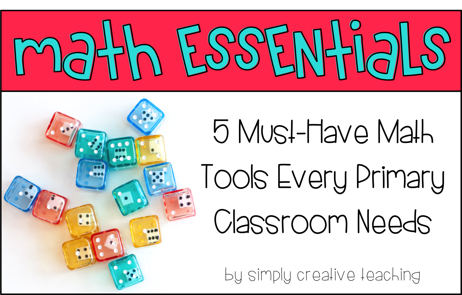 There are a handful of tools that I've found super helpful when teaching  math, so today I thought I'd share with you a few of my favorite MATH  ESSENTIALS!