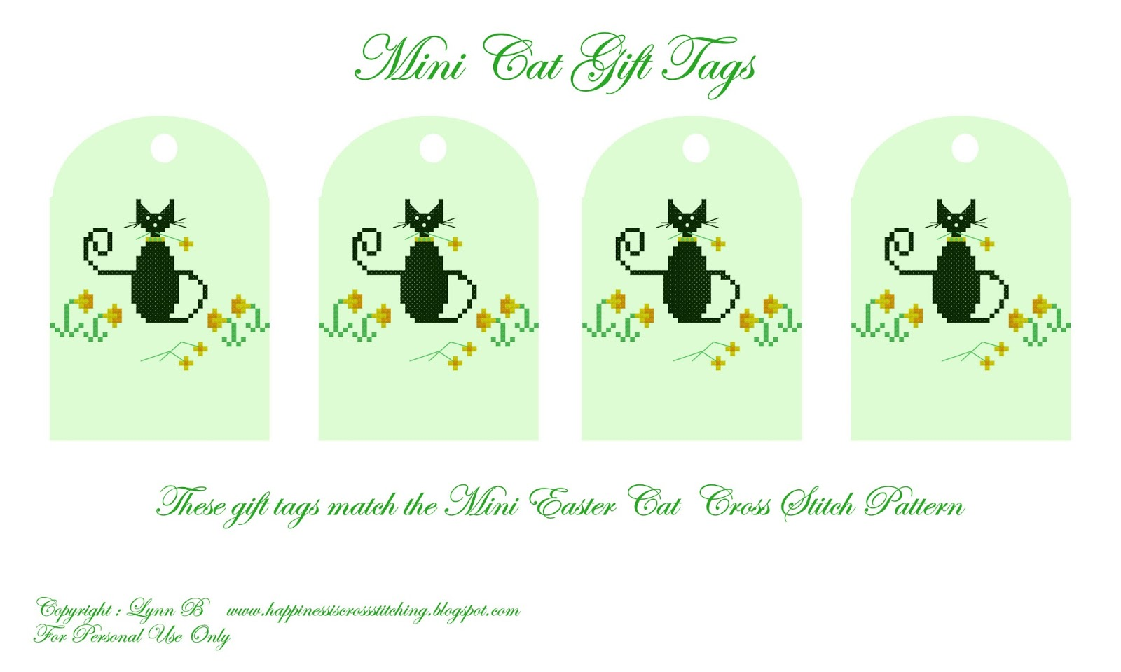Happiness Is Cross Stitching Free Easter Cat Pattern From Mini