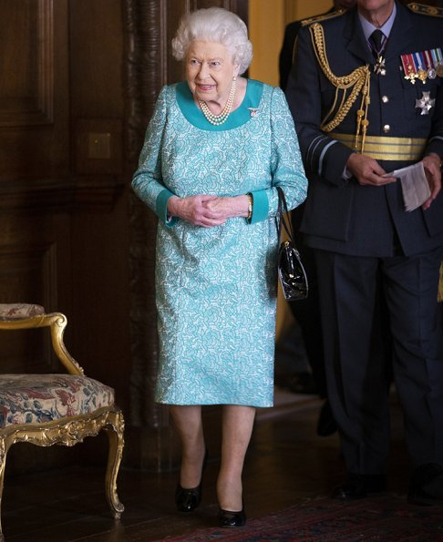 Queen Elizabeth held a reception at the Holyroodhouse for the Edinburgh Squadron RauxAF. Meghan Markle and Prince Harry visit Holyroodhouse