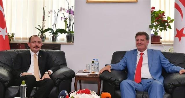 Ticaret Bakanı Muş, KKTC Başbakan Yardımcısı Erhan Arıklı'yı ziyaret etti