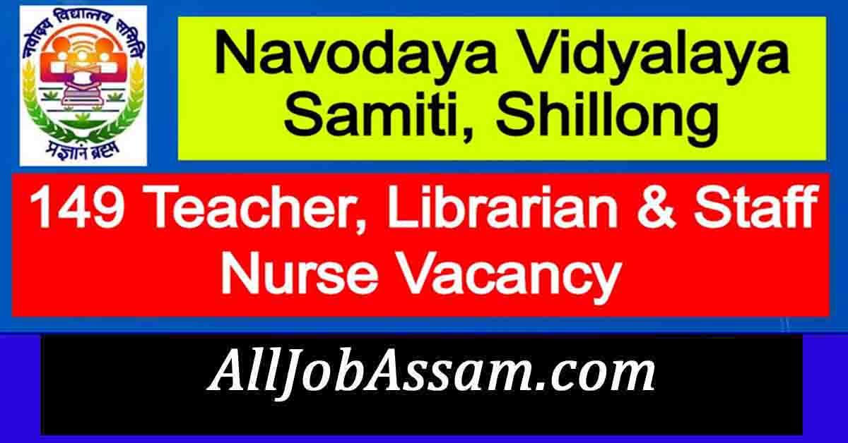 Navodaya Vidyalaya Samiti (NVS), Shillong Recruitment 2020