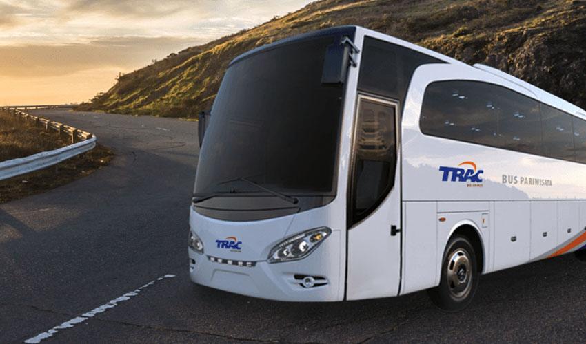 Fasilitas dan Daftar Harga Sewa Bus TRAC