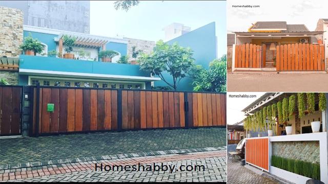 Inspirasi Desain Pagar Woodplank Untuk Rumah Minimalis Yang Bisa Anda Aplikasikan Di Rumahmu Homeshabby Com Design Home Plans Home Decorating And Interior Design