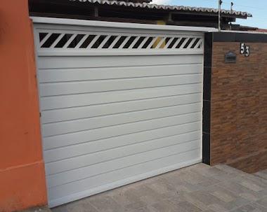 Portão em alumínio branco 47